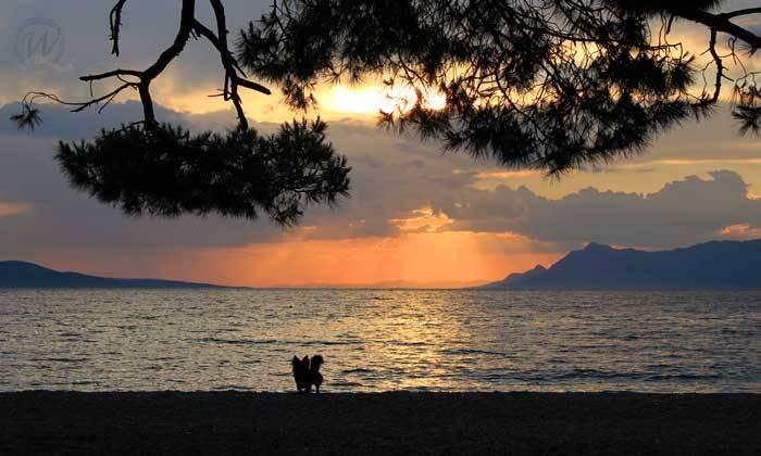 Sunset as viewed from Makarska