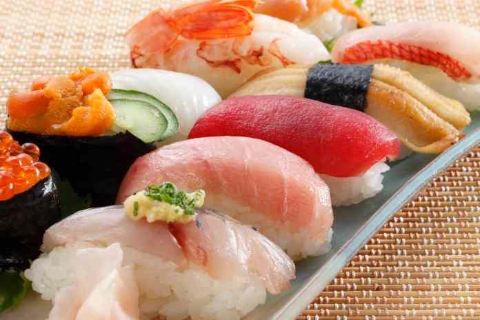 Japanese seafood sushi
