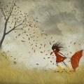 storm autumn illustration