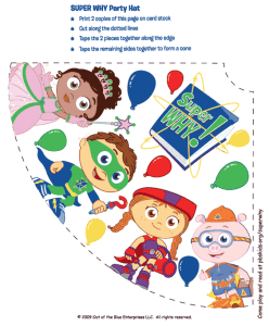 Super Why Party Hats