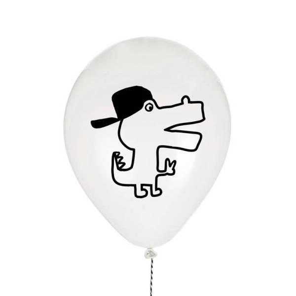 ballonnen krokodil wit