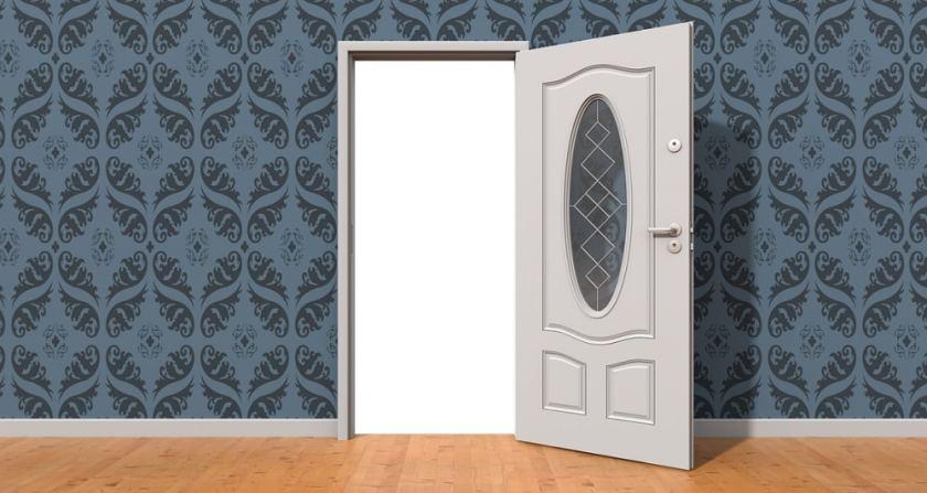 Front door for childproof door locks