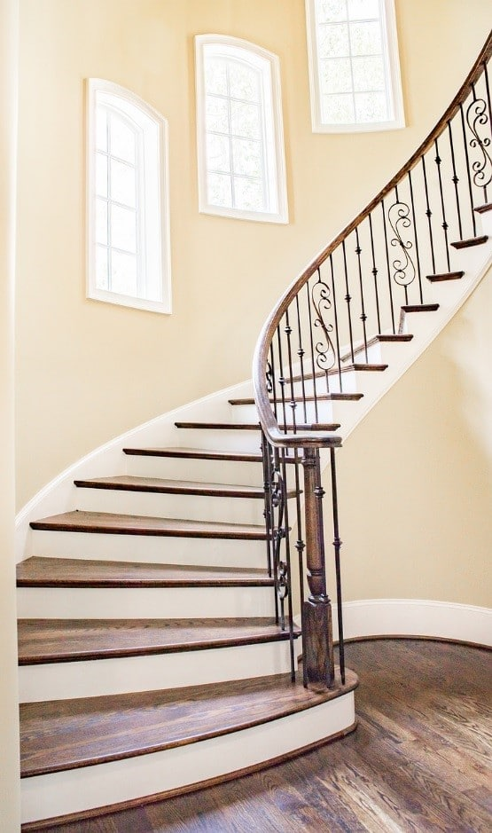 Stair case with additional baby gates