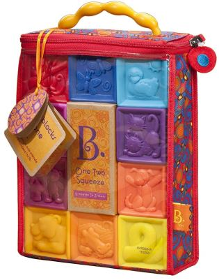 B. toys by Battat One Two Squeeze Baby Blocks