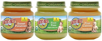 Earth's Best Stages 1 to 3 Organic Baby Food