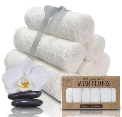 KeaBabies Soft Organic Baby Washcloth