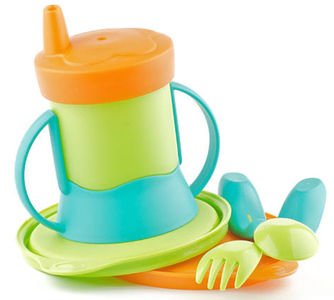 Bamboo Baby Suction Bowl Baby Sustainable Feeding Set Baby Bpa Free Silicone
