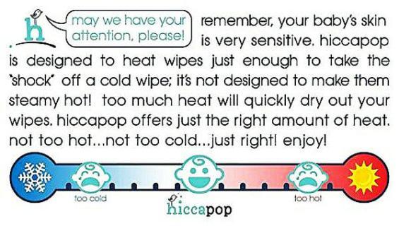 Benifits of hiccapop wipe warmer