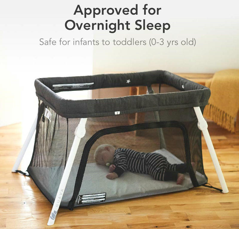 Lotus Travel Crib for overnight sleep