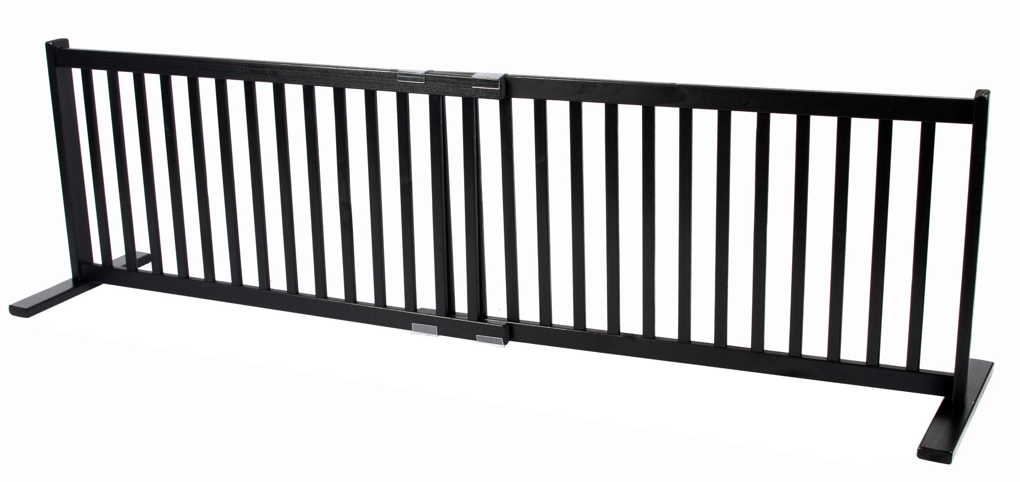 Free Standing Large All Wood Pet Gate Black 20h 39 25