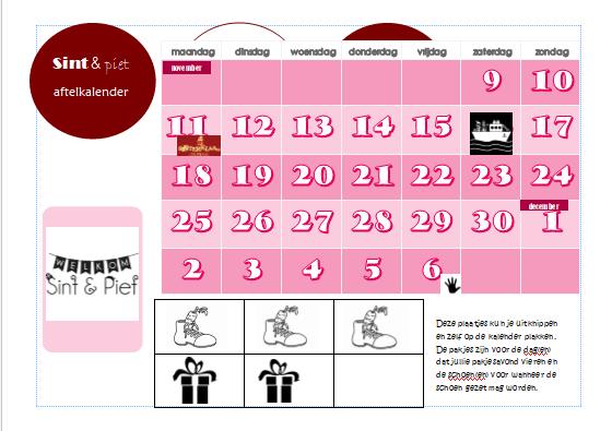 Sint & Piet aftelkalender