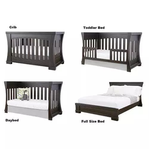 The Four Diffe Configurations Of A Convertible Crib Toddler Bed With Rail