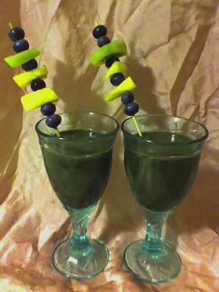 Organic fruit smoothies.