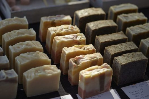 Sell herb soap to add money to your retirement savings.