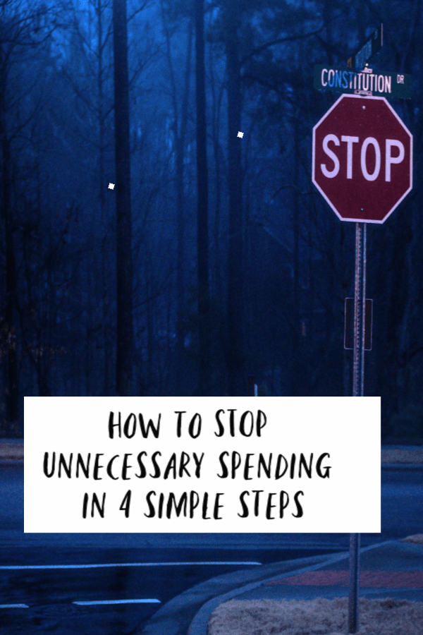 How to STOP unnecessary spending