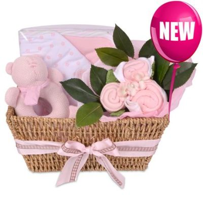 Babybuds baby gifts delivery new zealand same day auckland babybuds hamper pink negle Image collections