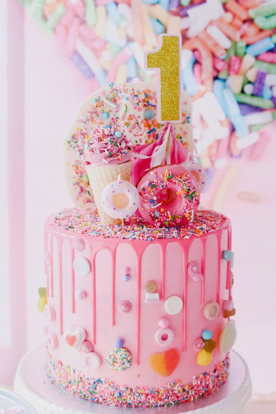 Astounding 1St Birthday Cake Ideas For A Girl The Cake Boutique Funny Birthday Cards Online Alyptdamsfinfo
