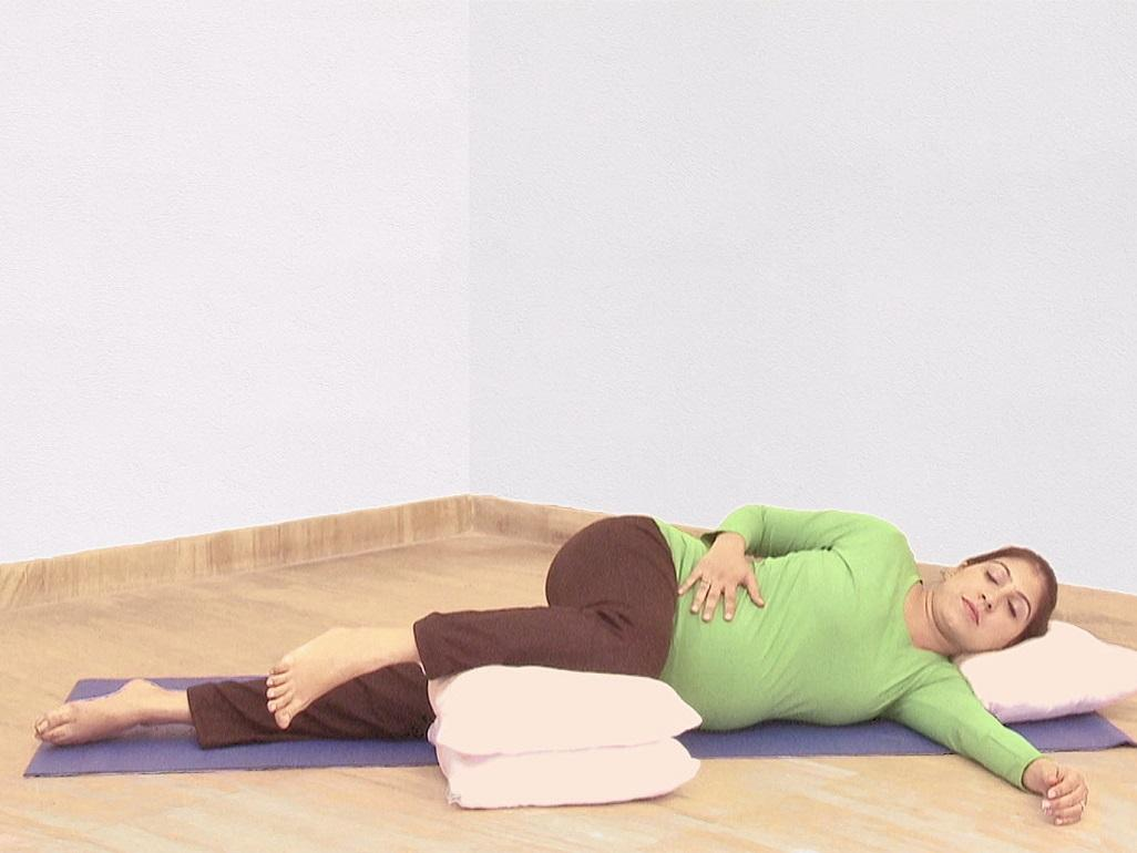 Prenatal Yoga Relaxation Pose