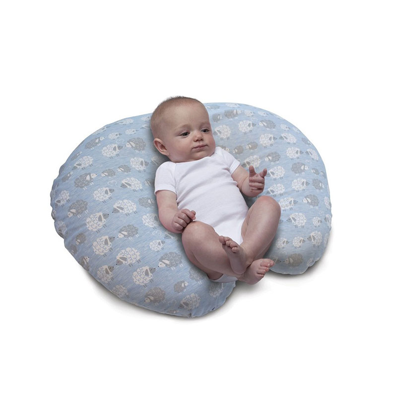 chicco boppy nursing pillow clouds