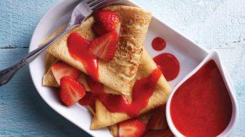 20 merende dietetiche e sane per bambini - crepe fragole