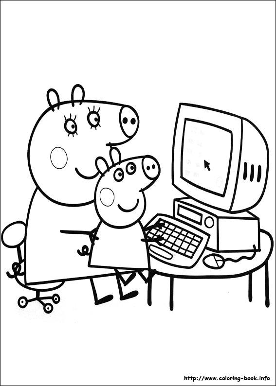 12 disegni da stampare e colorare gratis per bambini - peppa pig 10