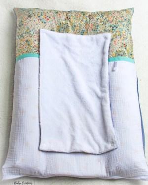 housse de matelas à langer serviette amovible bambou liberty fait main créatrice artisanale