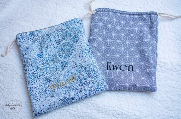 pochon sac de rangement personnalisable création fait main artisanal