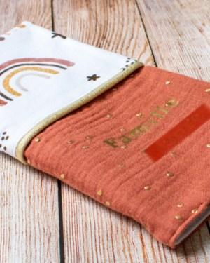 protège livret de famille housse de carnet fait main créatrice artisanale