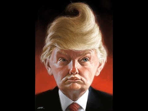 WeirdCaricutres-Donald-Trump-With-Poop-Hair-Style-Very-Funny-Picture (1)