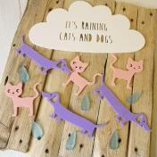 raining cats and dogs mobile hanger