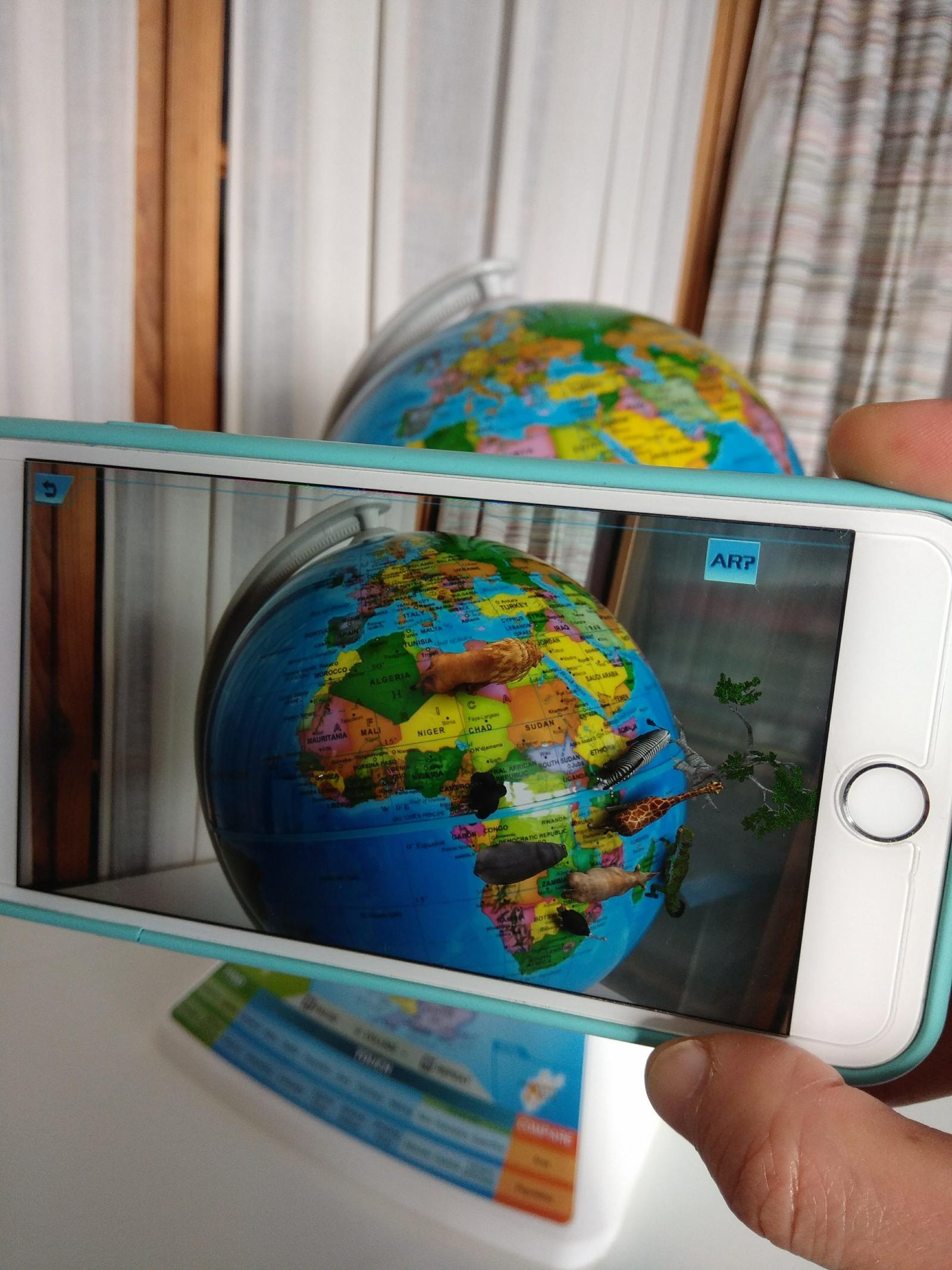 augmented reality smart globe with creatures on the earth oregon scientific adventure