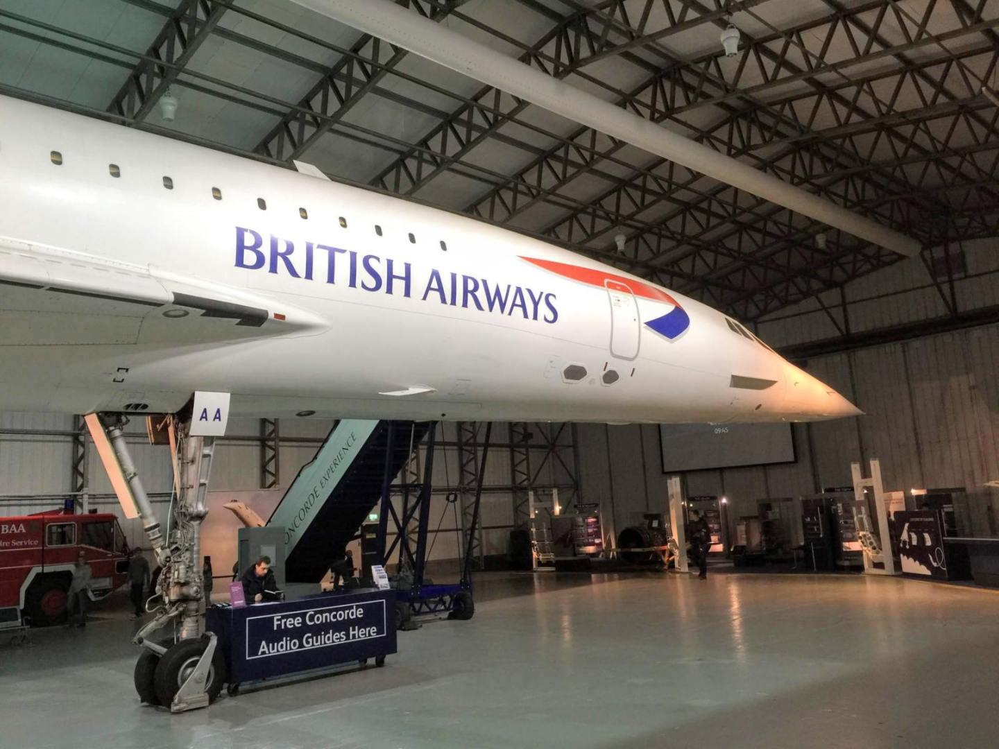 nose of concorde at national museum of flight in scotland