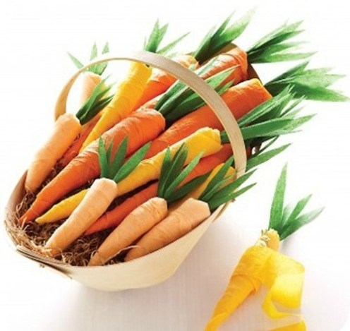 Costume di Carnevale da coniglio: le carote