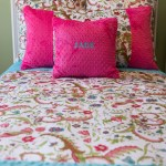 White Floral Hot Pink Or Turquoise Twin Bed Set Baby Jade