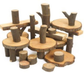 wooden block construction toys