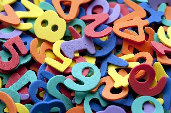 Kids colorful numbers
