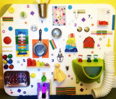 DIY sensory board toddlers
