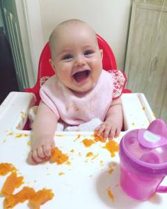 Ava at 6mo - Baby led weaning