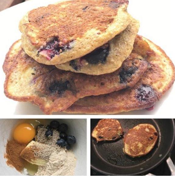 Blueberry + Chia Pancakes