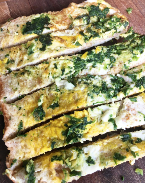 Eggy-Spinach Bread