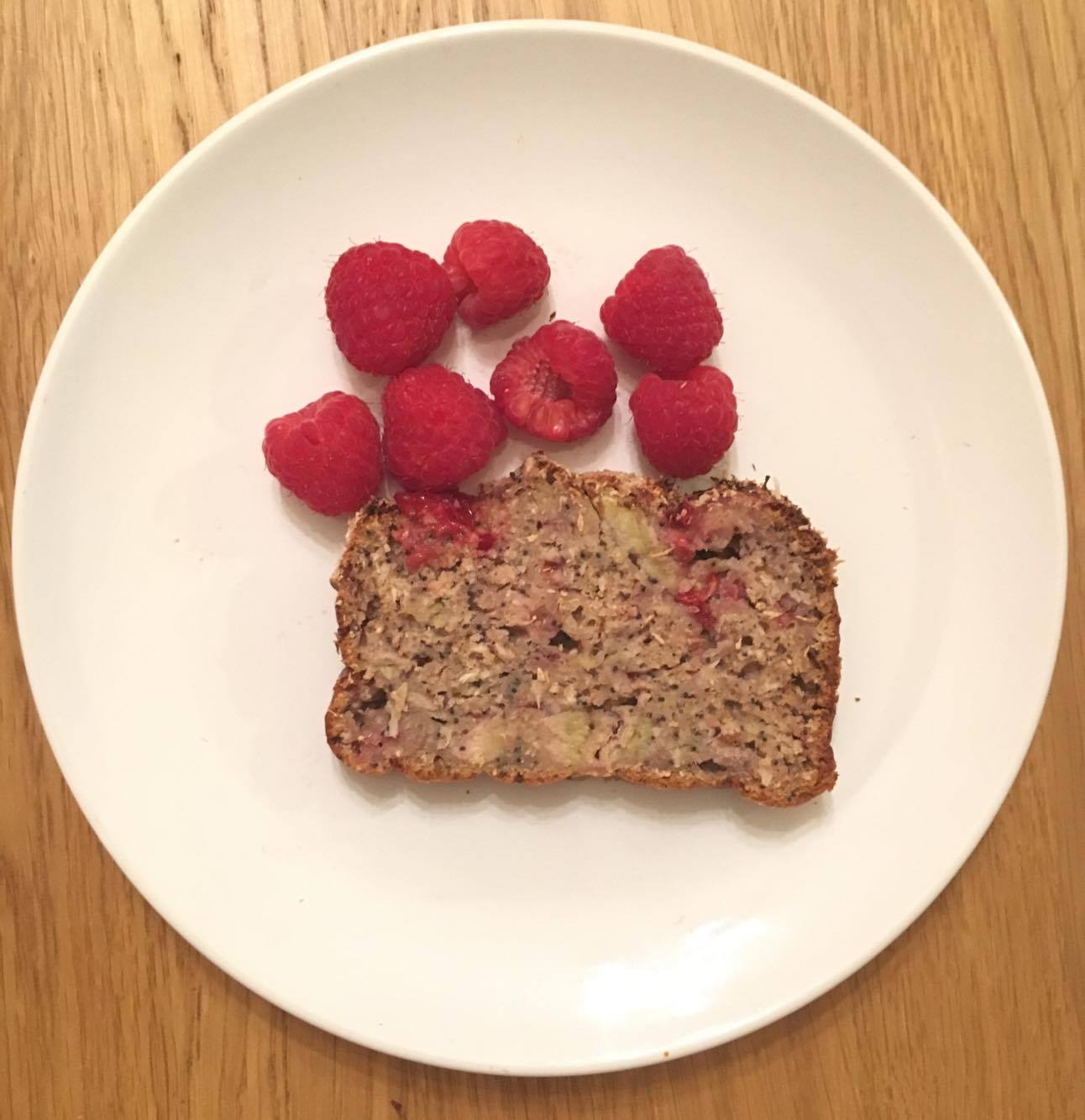 Ava's Raspberry Coconut Breakfast Loaf