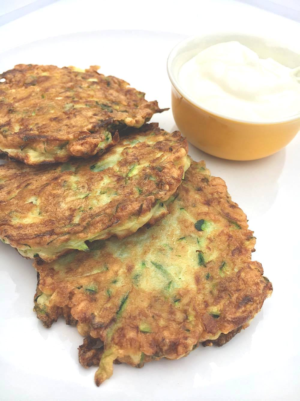 3-Ingredient Zucchini Fritters