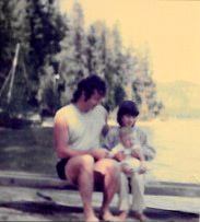 My dad, my sister and I at Priest Lake. 1985.