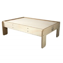 This wooden play table is great for playrooms, classrooms, and