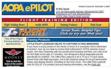 AOPA ePilot, December 2006