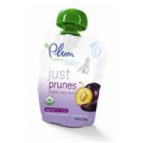 Plum Organic's spouted pouch is designed to be used with the Boon Spoon.