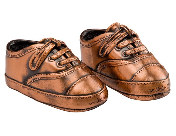 Bronzed baby shoes are back!