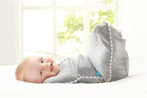 baby in a Love to Dream swaddle