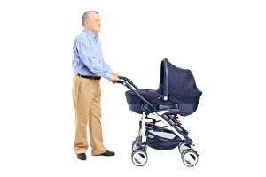 Grandps pushing a stroller