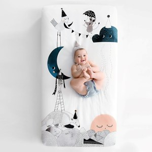 Rookie Humans crib sheet--best gifts for new parents